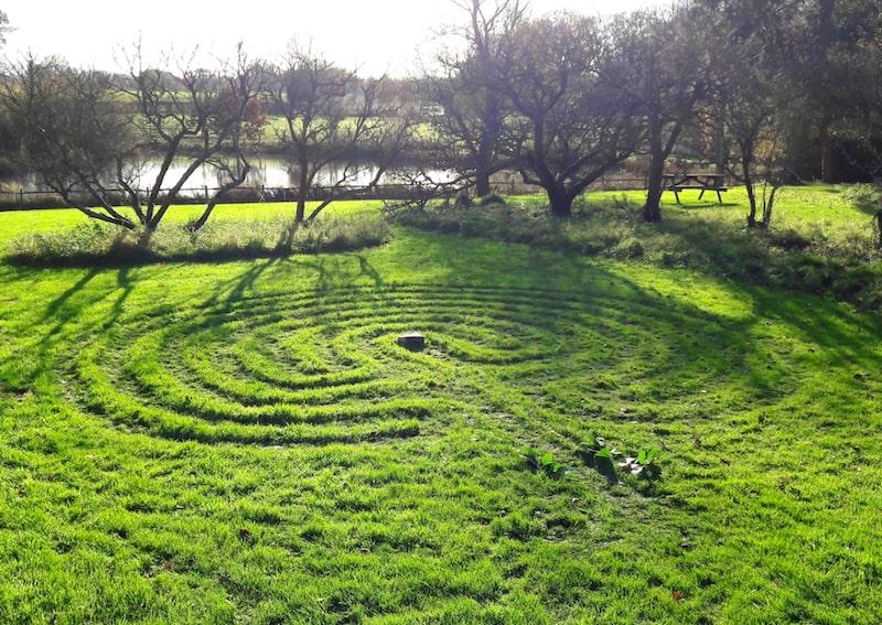 Buckland Hall turf labyrinth walk