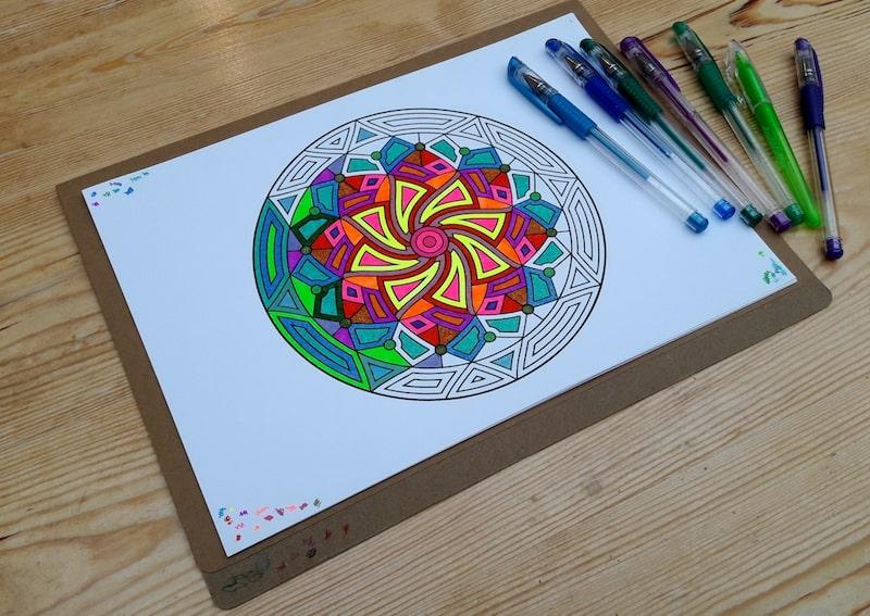 Half completed mandala design