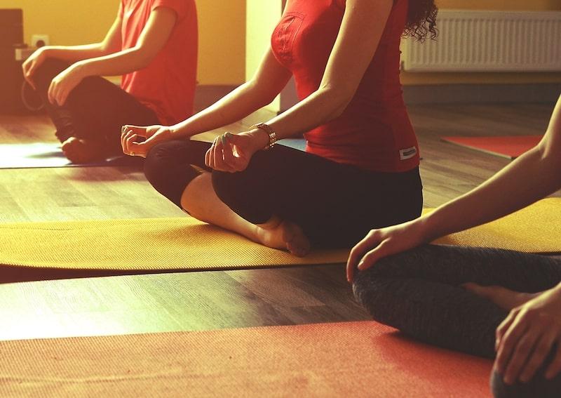Silent Retreat Yoga session
