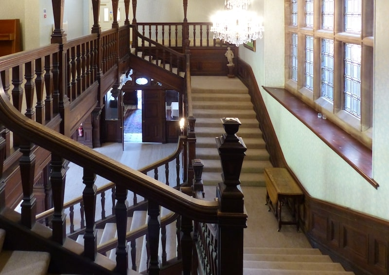 Grand staircase at Buckland Hall