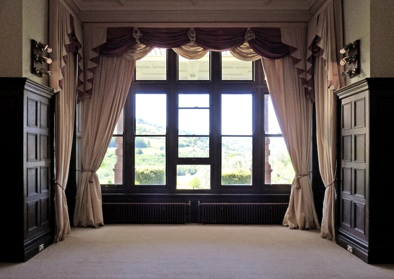 View from the main reception window at Buckland Hall