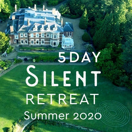 5 day silent retreat england 2020 graphic