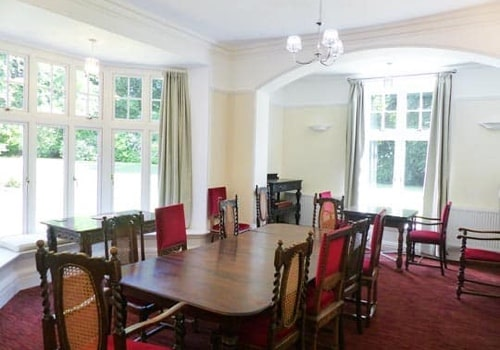 women's silent retreat venue dining room in england 2020
