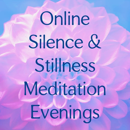 Online drop in meditation and stillness evening banner