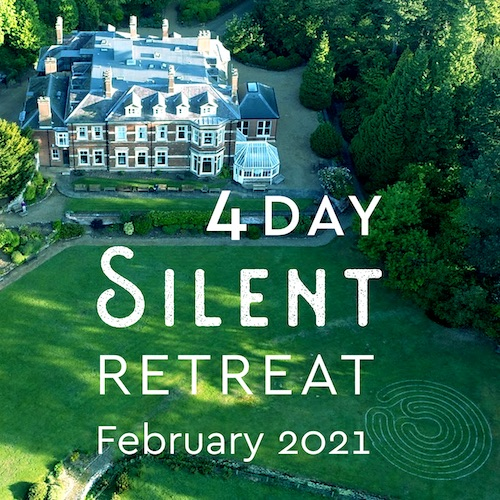 4 day silent retreat england 2021 graphic