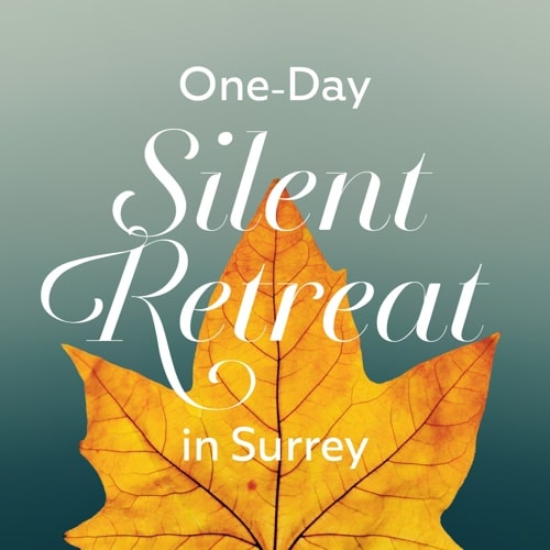 one day silent retreat banner