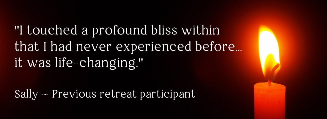 One day retreat banner image with quote from participant
