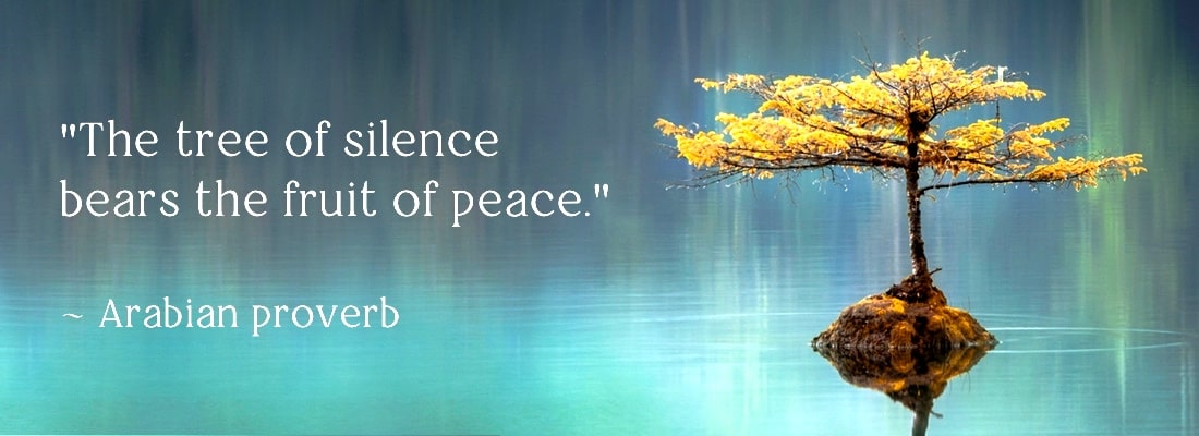 One day retreat banner image with arabian proverb on silence